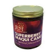 Jem Raw Organic Sprouted Almond Spread, Superberry Maqui Camu