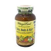 MegaFood Skin, Nails & Hair Maintains a Healthy Complexion & Promotes the Growth of Nails & Hair with Organic Horsetail, Nettle & Red Clover Blossom MULTIVITAMIN & HERBAL DIETARY SUPPLEMENT TABLETS
