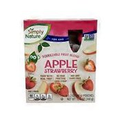 Simply Nature Apple Strawberry Fruit Squeezie