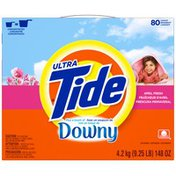 Tide Ultra Plus a Touch of Downy Powder April Fresh Scent Laundry Detergent