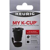 Keurig Dr Pepper Coffee Filter, Reusable, Universal