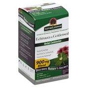 Nature's Answer Echinacea & Goldenseal, 900 mg Blend, Vegetarian Capsules