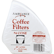 Ambiance Coffee Filters, 4 Cone