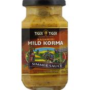 Tiger Tiger Simmer Sauce, Kashmiri Mild Korma, Medium Chili Rating