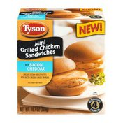 Tyson Mini Grilled Chicken Sandwiches with Bacon Cheddar - 4 CT