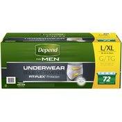 Depend for Men Maximum Absorbency L/XL Underwear