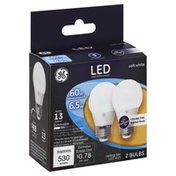 GE Light Bulbs, LED, Ceiling Fan, Soft White, Frosted Finish, 6.5 Watts