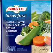 Birds Eye Broccoli, Carrots, Sugar Snap Peas & Water Chestnuts