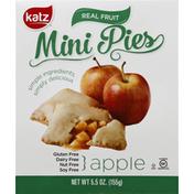 Katz Mini Pies, Real Fruit, Apple