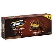 Mc Vities Wheat Cookie, Golden Baked, Dark Chocolate, Thin