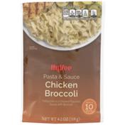Hy-Vee Chicken Broccoli Fettuccine Pasta In A Chicken Flavored Sauce With Broccoli