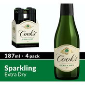 Cook's California Champagne California Champagne Extra Dry White Sparkling Wine Mini Bottles