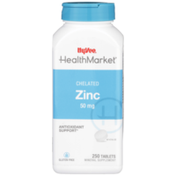 Hy-Vee Healthmarket, Chelated Zinc 50 Mg Antioxidant Support Mineral Supplement Tablets