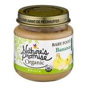 Nature's Promise Organic Baby Food Bananas 6m+