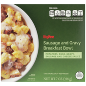 Hy-Vee Sausage And Gravy Potatoes, Eggs, Gravy, Sausage And Cheese Sauce Breakfast Bowl