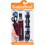 BooginHead Pacifier Holder, Pacigrip, 2 Pack