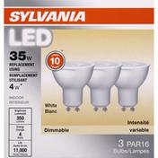 SYLVANIA Light Bulbs, LED, White, 4 Watts