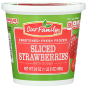 Our Family Fresh Frozen Sliced Strawberries With Sugar
