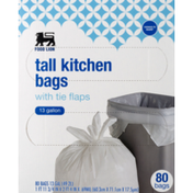 Food Lion Kitchen Bags, Tall, With Tie Flaps
