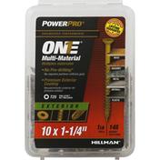 Power Pro Screws, Multi-Material, Exterior, 1-1/4 Inch