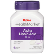 Hy-Vee Healthmarket, Alpha Lipoic Acid 50 Mg Antioxidant Support Dietary Supplement Tablets