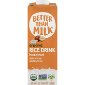 Better Than MILK Rice Drink, Organic, Hazelnut