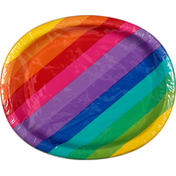 First Street Plates, Oval, Rainbow