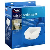 Carex Raised Toilet Seat, with E-Z Lock Feature
