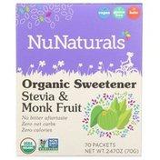 NuNaturals Organic Sugar-Free Stevia & Monk Fruit Sweetener