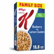 Kellogg's Special K Breakfast Cereal, 11 Vitamins and Minerals, Made with Fiber, Blueberry with Lemon Clusters