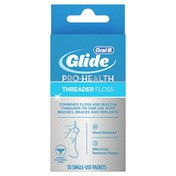 Oral-B Glide Pro-Health Threader Dental Floss For Bridges, Braces And Implants,