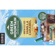 Green Mountain Coffee Roasters Coffee, Brew Over Ice, Vanilla Caramel, K-Cup Pods