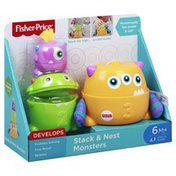 Fisher-Price Toy, Stack & Nest Monsters, 6 Months+