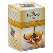 Mighty Leaf Tea, Chamomile Citrus, Caffeine Free, Whole Leaf Pouches