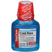 TopCare Cold Max Nighttime Pain Reliever/Fever Reducer, Cough Suppressant, Antihistamine, Nasal Decongestant Liquid, Cool Ice