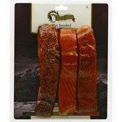 Echo Falls Coho Salmon, Hot Smoked, Cracked Pepper/Traditional/Cajun Spice, Trio