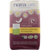 Natracare Maxi Pads, Regular, Normal