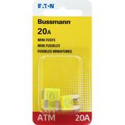 Bussmann Fuses, ATM, 20A, Mini