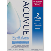 ACUVUE Sterile Solution, RevitaLens, 2 Pack
