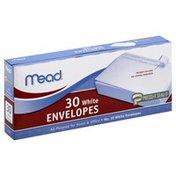 Mead Envelopes, White, No.10, Box