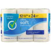 Simply Done Ultra Soft Bath Tissue 12 Double Rolls