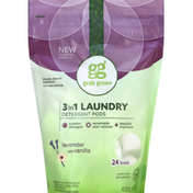 Grab Green Laundry Detergent Pods, 3in1, Lavender with Vanilla