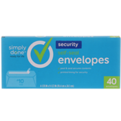 Simply Done Self-Seal Security Envelopes