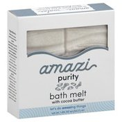 Amazi Bath Melt, with Cocoa Butter, Purity