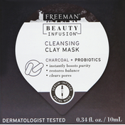 Freeman Clay Mask, Cleansing, Charcoal + Probiotics