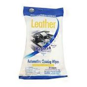 Refresh Your Car Antibacterial New Car Scent Leather Wipes Po