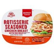 Chicken Breast, with Rib Meat, Rotisserie Seasoned, Ultra-Thin Deli Slices