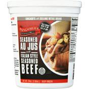 Papa Charlie's Beef, Italian Style Seasoned, with Seasoned Au Jus
