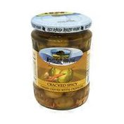 Kvuzat Yavne Cracked Spicy Green Olives With Olive Oil