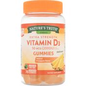 Nature's Truth Vitamin D3, Extra Strength, 50 mcg, Vegetarian Gummies, Natural Pineapple Flavor